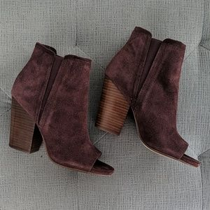 Splendid Open Toe Suede Boots